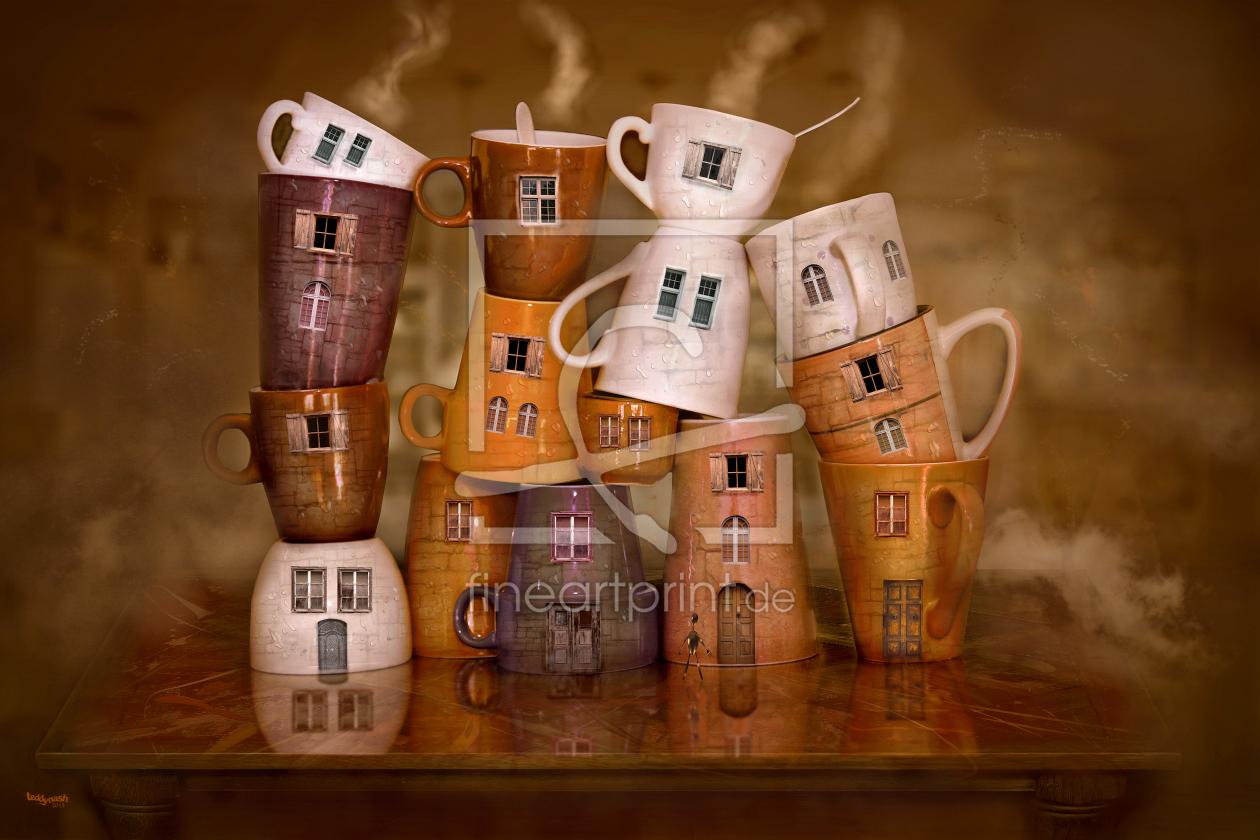 Die Kaffeehäuser ! als Acryluhr perfekt gedruckt 10914...