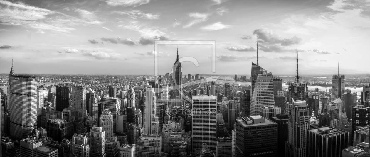 New York City Black And White Panorama As A Canva