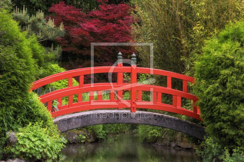 Zen Garten Brücke As A Canvas Print 11243016 Fine