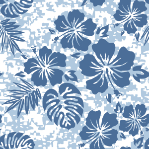 Picture no: 9000049 Hawaii Hibiskus Blau Created by: patterndesigns-com