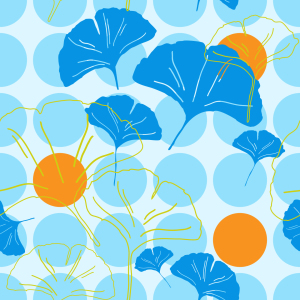 Picture no: 9000502 Ginkgo Dot Created by: patterndesigns-com