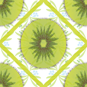 Picture no: 9001738 Florales Kiwi Karo Created by: patterndesigns-com