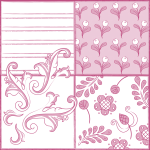 Picture no: 9002117 Malkunst In Rosa Created by: patterndesigns-com