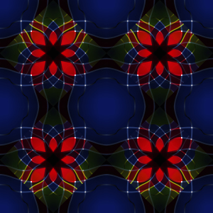 Picture no: 9004644 Kaleidoskopische Blumen Created by: patterndesigns-com