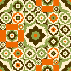 Picture no: 9006034 Blumen Aus Dem Retro Orient Created by: patterndesigns-com