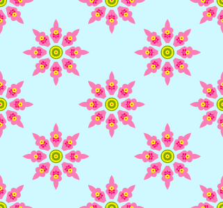 Picture no: 9006694 Blümchen Aus Dem Orient Created by: patterndesigns-com