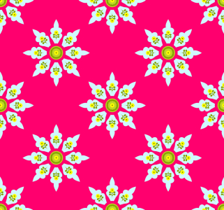 Picture no: 9006724 Blümchen Aus Indien Created by: patterndesigns-com