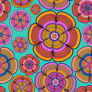Picture no: 9007325 Funky Flower Power Created by: patterndesigns-com