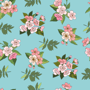 Picture no: 9007328 Kirschblüten Created by: patterndesigns-com