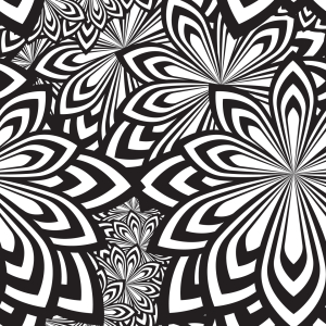 Picture no: 9007661 Psychedelische Blumen Created by: patterndesigns-com