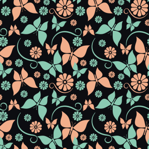 Picture no: 9007715 Vintage Schmetterlinge Created by: patterndesigns-com