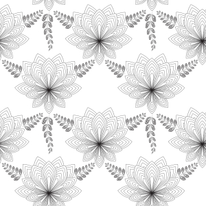 Picture no: 9007891 Art Deco Blume Created by: patterndesigns-com