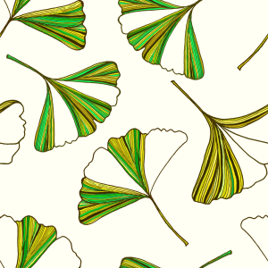 Picture no: 9008402 Gestreifte Ginkgo-Blätter Created by: patterndesigns-com