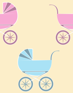 Picture no: 9008418 Kinderwagen Created by: patterndesigns-com