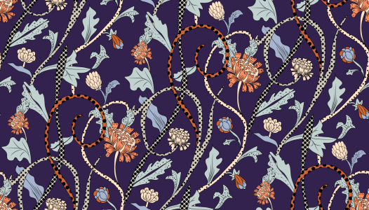 Picture no: 9008575 Leopard Blumen Created by: patterndesigns-com