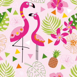 Picture no: 9008714 Tropisches Flamingo Paradies Created by: patterndesigns-com