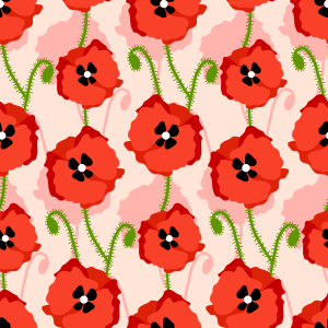 Picture no: 9008715 Rote Mohnblumen Created by: patterndesigns-com