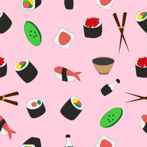 Picture no: 9008762 Sushi-Set Created by: patterndesigns-com