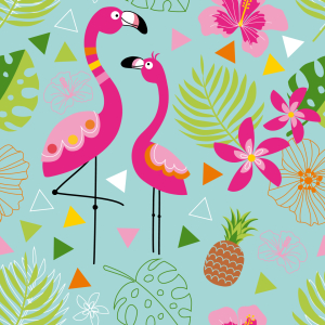 Picture no: 9008872 Exotisches Flamingo Paradies Created by: patterndesigns-com
