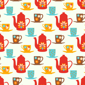 Picture no: 9010077 Retro Tea Time Created by: patterndesigns-com