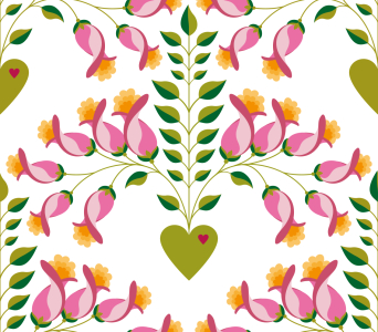 Picture no: 9010672 Süsse zarte florale Herzen Created by: patterndesigns-com