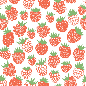 Picture no: 9010742 Cartoon Himbeeren und Erdbeeren Created by: patterndesigns-com