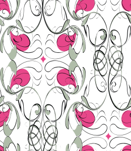 Picture no: 9010980 Dekorativer Jugendstil-Flair Created by: patterndesigns-com