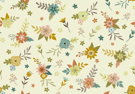 Picture no: 9011416 Vintage Herbstblumen Created by: patterndesigns-com