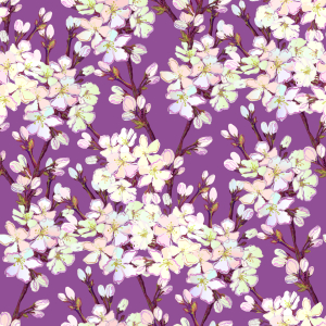 Picture no: 9011955 Sakura Kirschblüten Created by: patterndesigns-com