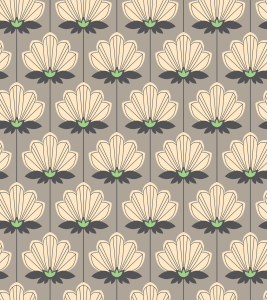 Picture no: 9011999 Retro Blumenornamente Created by: patterndesigns-com