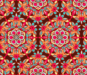 Picture no: 9012102 Reich verziertes Blumen Mandala Created by: patterndesigns-com