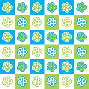 Picture no: 9012164 Schachbrett Blumen Created by: patterndesigns-com