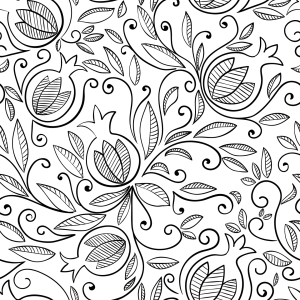 Picture no: 9012367 Floraler Granatapfel Created by: patterndesigns-com