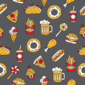 Picture no: 9012395 Leckeres Fast Food Created by: patterndesigns-com