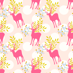 Picture no: 9012409 Florale Rehe Created by: patterndesigns-com
