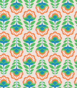 Picture no: 9013016 Retro-Cartoon Blumen Created by: patterndesigns-com