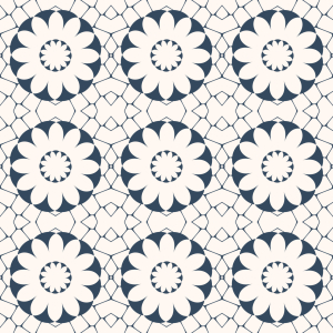 Picture no: 9013093 Azulejo Blüten Created by: patterndesigns-com