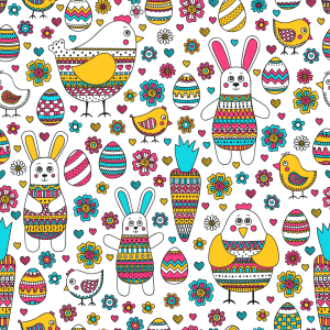 Picture no: 9013344 Osterhase und Freunde Created by: patterndesigns-com