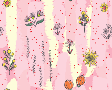 Picture no: 9013376 Gemalte Flora Created by: patterndesigns-com