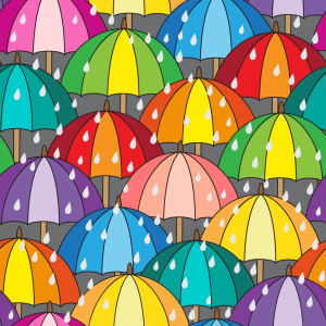 Picture no: 9013592 Regenschirme im Rudel Created by: patterndesigns-com