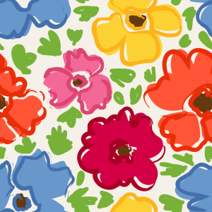 Picture no: 9013643 Bunte Blümchen Created by: patterndesigns-com