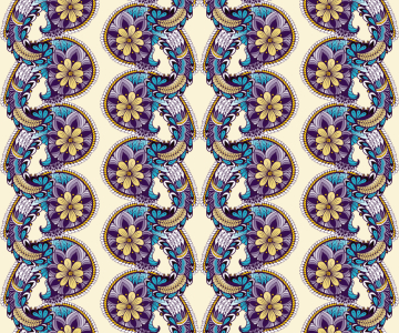 Picture no: 9013862 Paisley Bordüren Created by: patterndesigns-com