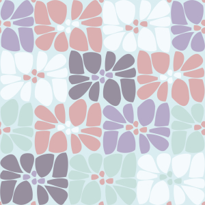 Picture no: 9013919 Mosaik Blüten Pflaster Created by: patterndesigns-com