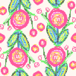 Picture no: 9014086 Blumenstickerei Created by: patterndesigns-com