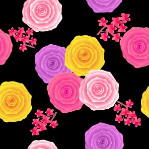 Picture no: 9014221 Abstrakte Rosen im Vintage-Stil Created by: patterndesigns-com