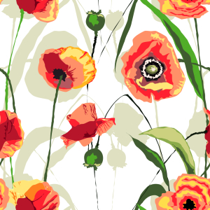 Picture no: 9014223 Sonnenuntergang Mohn Blumen Created by: patterndesigns-com