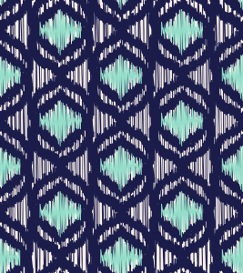 Picture no: 9014233 Ozean Ikat Created by: patterndesigns-com