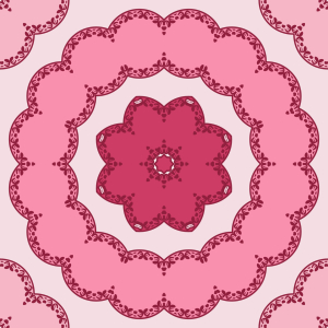 Picture no: 9014254 Runde Blumen Kreisen Created by: patterndesigns-com
