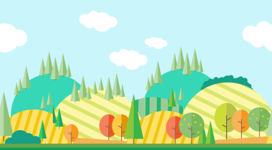 Picture no: 9014293 Herbstlandschaft im Flach-Design Created by: patterndesigns-com