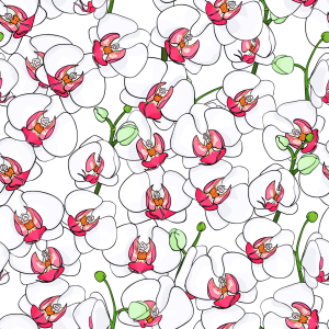 Picture no: 9014410 Blühende Orchideen Created by: patterndesigns-com